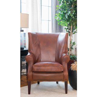 Brayden Top Grain Leather Standard Chair in Rustic