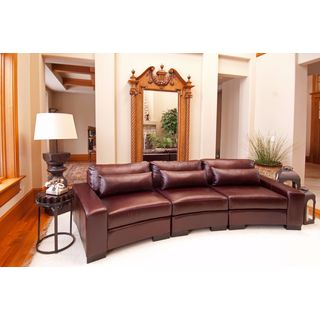 Loft Sable Brown Top Grain Leather Sectional Sofa