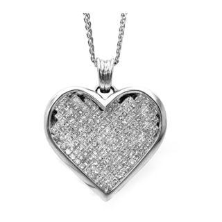 Noori 14k Gold 3 2/5ct TDW Princess-cut Diamond Heart Necklace