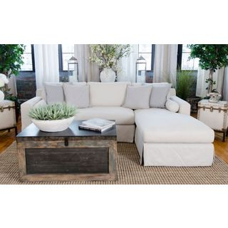 Haley Fabric Sectional in Seashell (Left Arm Facing Loveseat, Right Arm Facing Chaise)