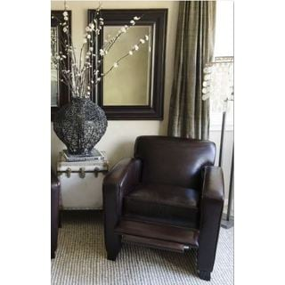 Brady Top Grain Leather Reclining Chair in Cappuccino