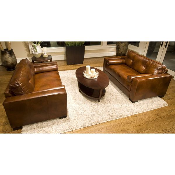 Shop Soho Rustic Brown Top Grain Leather Oversized Accent