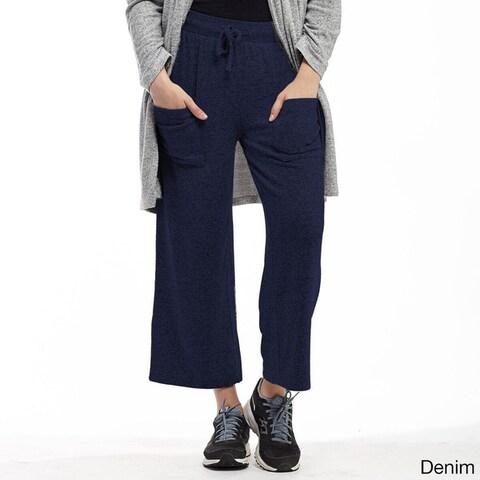 La Cera Women's Rayon-blend Plus-size Capri Pants