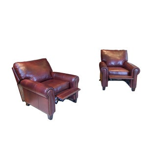Garret Set of 2 Sienna Top Grain Leather Reclining Chairs