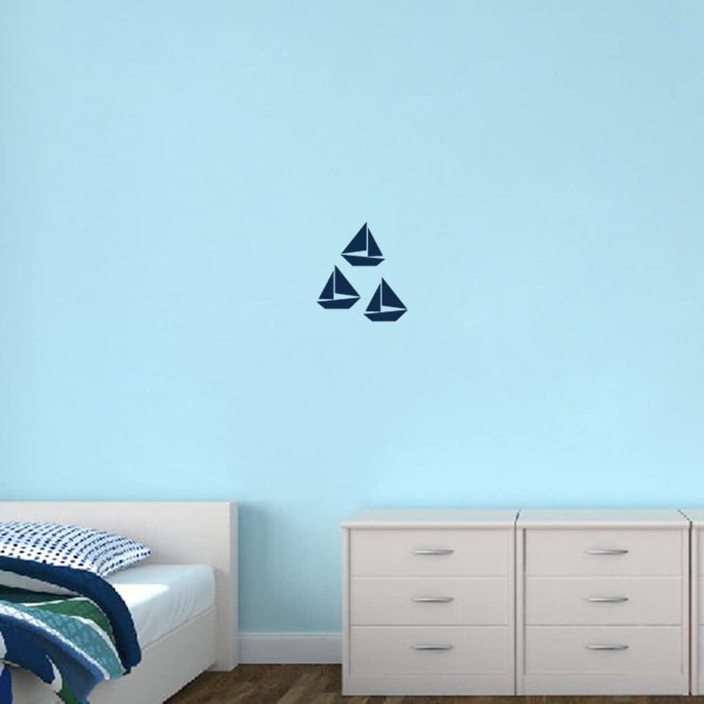Sweetums Sailboats Small Set Wall Decals (Green)