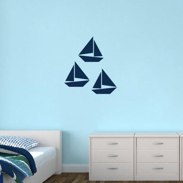 Sailboats Medium Set Wall Decals