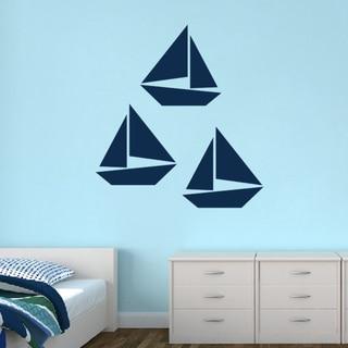 Sailboats Large Set Wall Decals