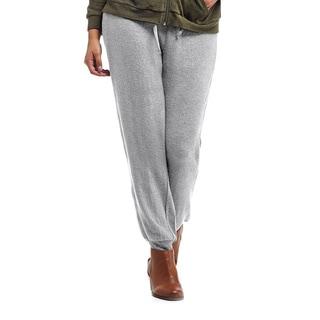 La Cera Women's Blue/Black/Grey Rayon/Polyester/Spandex Plus-size Soft Cuffed-leg Pants
