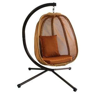 Flowerhouse FHEC100-BN2 Brown Hanging Egg Chair