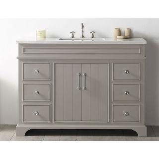 Legion Furniture Warm Grey Wood 48-inch No-faucet Sink Vanity