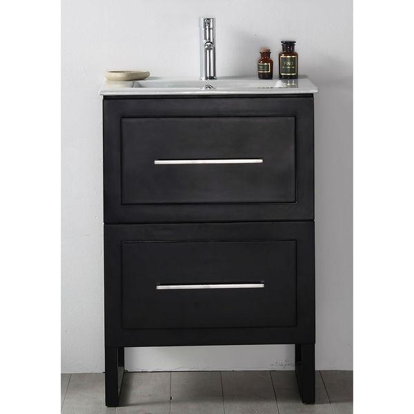 Shop Legion Furniture Espresso Wood 24 Inch Sink Vanity