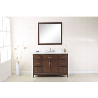 Legion Furniture Coffee-colored 48-inch Sink Vanity with Quartz Top