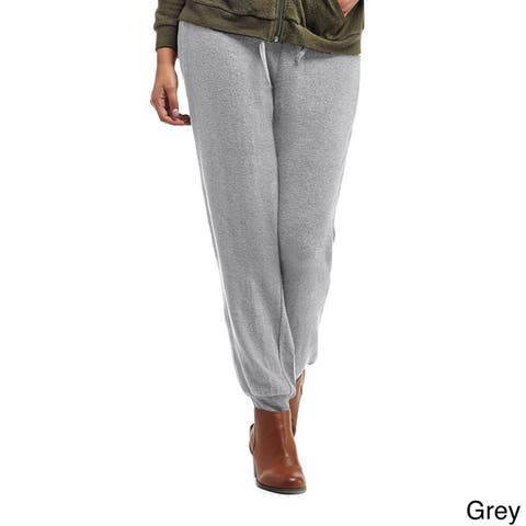 La Cera Women's Soft Cuffed Leg Pants