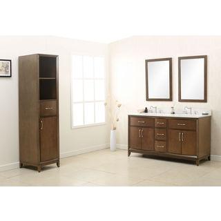 Legion Furniture Antique Coffee Quartz Top 60-inch Sink Vanity