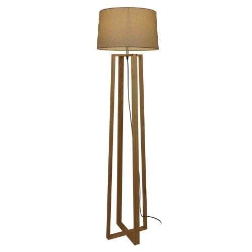 Light Society Caspar Natural Wood Floor Lamp