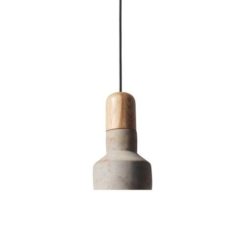 Light Society Rochester Concrete Finish Wood Mini Pendant Lamp