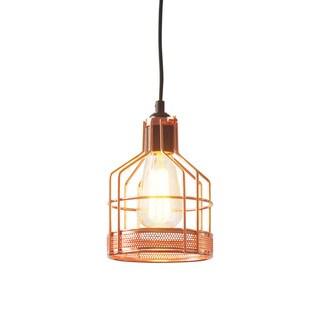 light society halloway copper finish iron mini pendant lamp