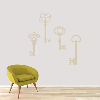 Skeleton Key Set Wall Decal - Large