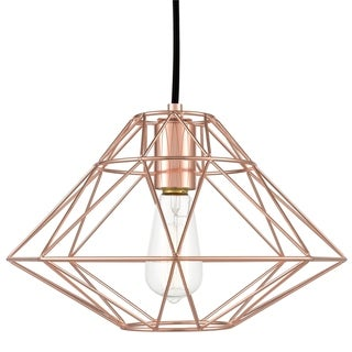 Light Society Wellington Hanging Pendant Lamp - rose gold