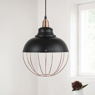 Light Society Magritte Black/Copper Aluminum Pendant Lamp - Black