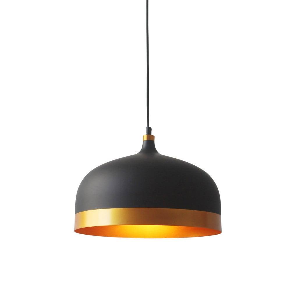 Light Society Melaina Black and Gold Pendant Lamp (Matte ...