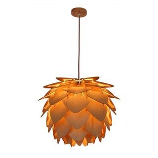 Petals Natural Wood Large Pendant Lamp