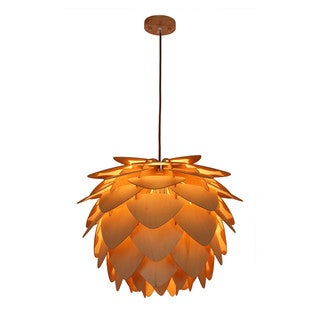 Light Society Petals Natural Wood Large Pendant L&  sc 1 st  Overstock.com & Wood Ceiling Lights For Less | Overstock.com azcodes.com