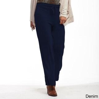 La Cera Women's Plus-size Soft Pants