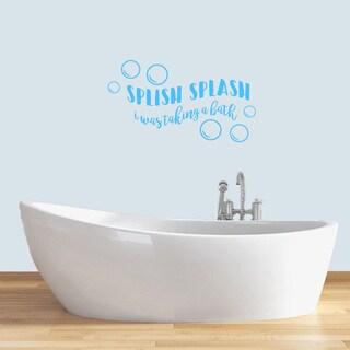 """Splish Splash Wall Decals - 36"""" wide x 20"""" tall"""