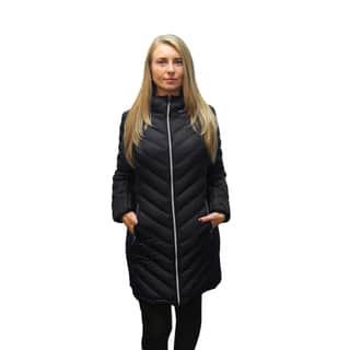Michael Kors Women's Black Down Chevron Quilted Coat|https://ak1.ostkcdn.com/images/products/12852592/P19615836.jpg?impolicy=medium