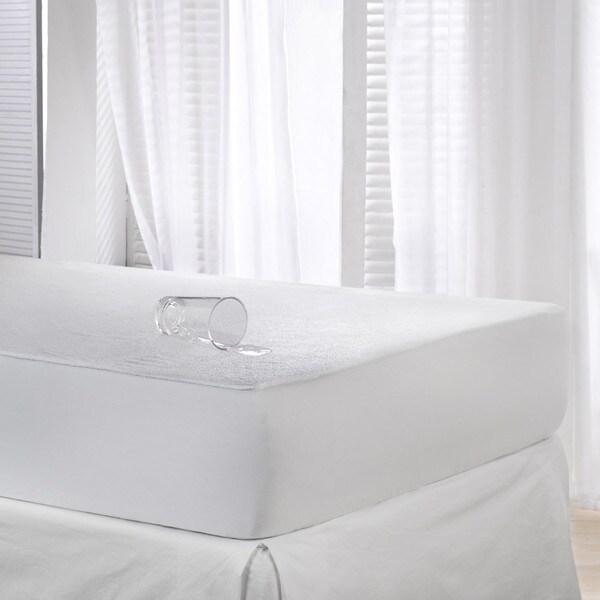 Shop Waterproof Cotton Terry Mattress Protector Free