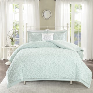 Madison Park Sarah Blue Tufted Comforter 4 Piece Set