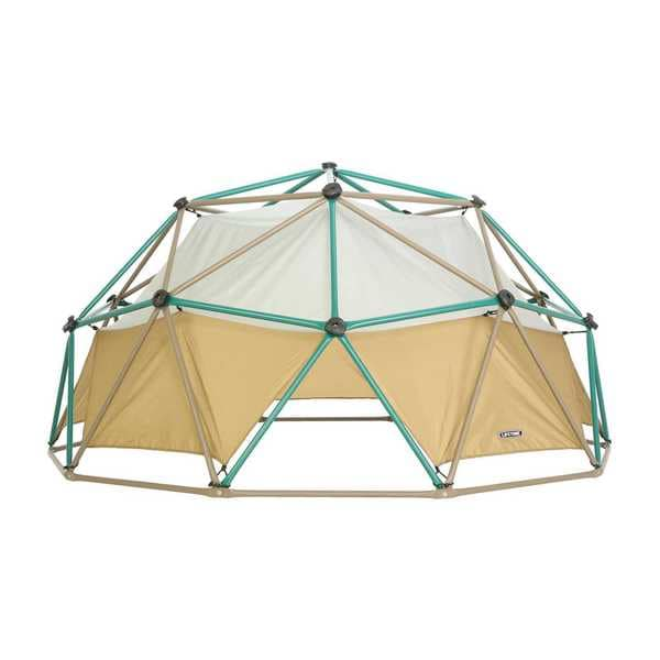 Lifetime Tan/Green/Brown Powder-coated Steel Dome Climber with Earthtone Canopy