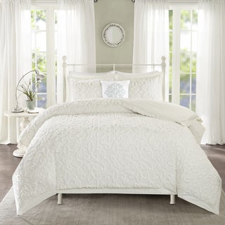 Madison Park Sarah White Tufted Comforter 4 Piece Set