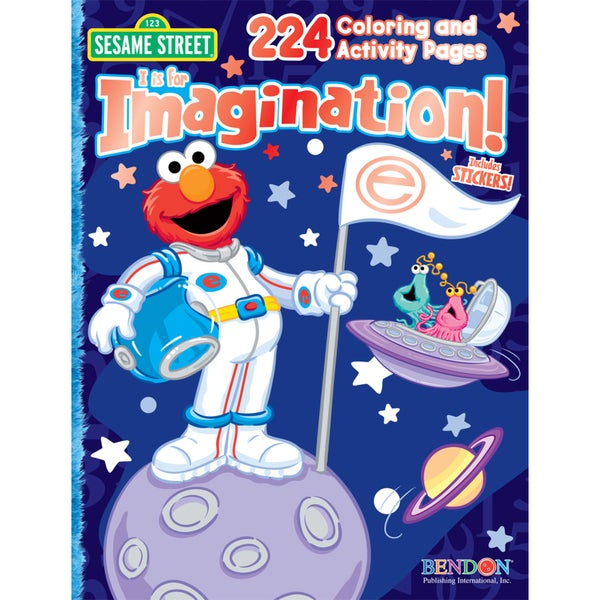 Bendon Publishing International 07208 Sesame Street Activity Book With Stickers, Foil & Embossing