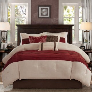Link to Madison Park Jackson Red Comforter 7 Piece Set Similar Items in Comforter Sets