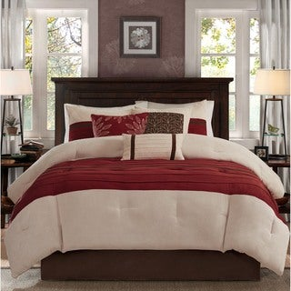 Madison Park Jackson Red Comforter 7 Piece Set