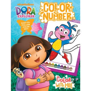 Bendon Publishing International 17768 Dora Color By Number Book With Foil