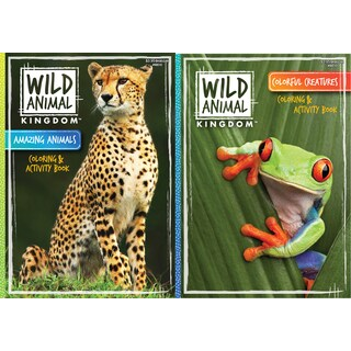 Kappa Publication 148510 Wild Animal Kindom Coloring Book Assorted Styles
