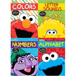 Kappa Publication 640000 Sesame Street Workbook Assorted Characters