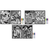 "Rose Art CXW16 11"" X 15"" Fuzzy & Line Art Poster Assorted Styles"
