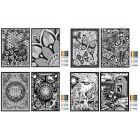 "Rose Art DDH22 11"" X 15"" Fuzzy & Line Art Poster Assorted Styles - Black/White"