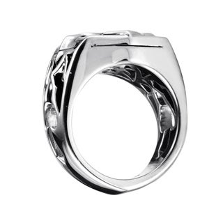 Stephen Webster Men's Ace of Clubs Sterling Silver Onyx Ring