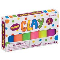 Toysmith 02408 1.5 Oz Neon Mini Clay Set 6-count