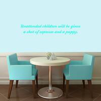 "Unattended Children Wall Decal - 36"" wide x 6"" tall"