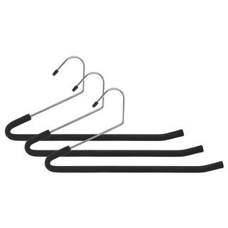 Whitmor 6100-5266 Chrome Slack Hangers w/ Black Foam 3-ct