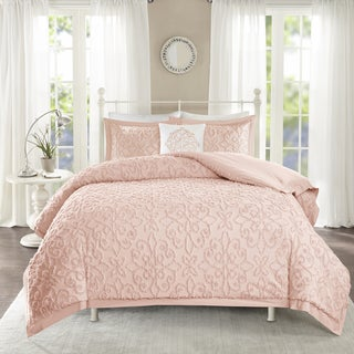 Madison Park Sarah Pink Tufted Comforter 4 Piece Set