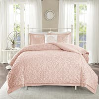 Maison Rouge Henri Pink Tufted Comforter 4 Piece Set