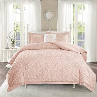 Maison Rouge Henri Pink Tufted Comforter 4 Piece Set