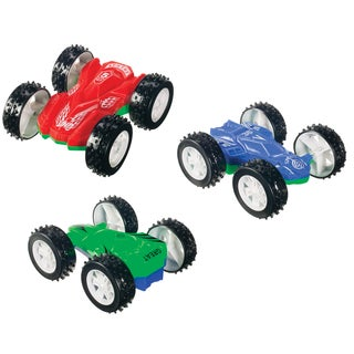 Toysmith 1403 Double Sided Flip Car Assorted Colors